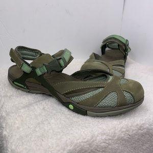 Merrell Azura Wrap Medium Green Sandals 9